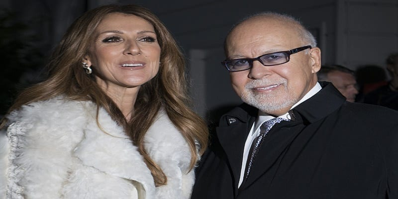 "(L-R) Celine Dion and her husband Rene Angelil arrive to the TV show 'Vivement dimanche"" on november 13, 2013 in Paris."