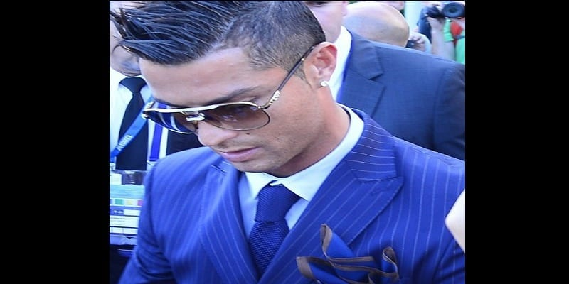 Real Madrid forward CRISTIANO RONALDO walking in the Forum Grimaldi Blue Carpet to attend the best Europe soccer player election 2015.
