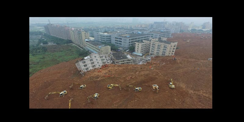 chine shenzhen coulée boue industrielle catastrophe_0
