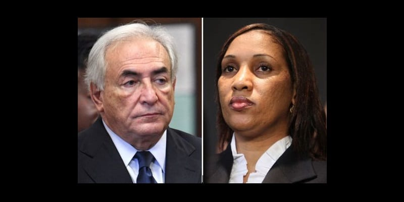 "This combo made from file photos shows former IMF leader Dominique Strauss-Kahn on June 6, 2011, left, and Nafissatou Diallo on July 28, 2011, in New York. Tapping a New York City law against gender-based violence and pointing to other allegations that have circled Strauss-Kahn, Diallo's lawyers wrote in court papers that the onetime French presidential contender attacked her ""because she is a woman and, at least in part, because he has an animus towards women."" (AP File Photos)"