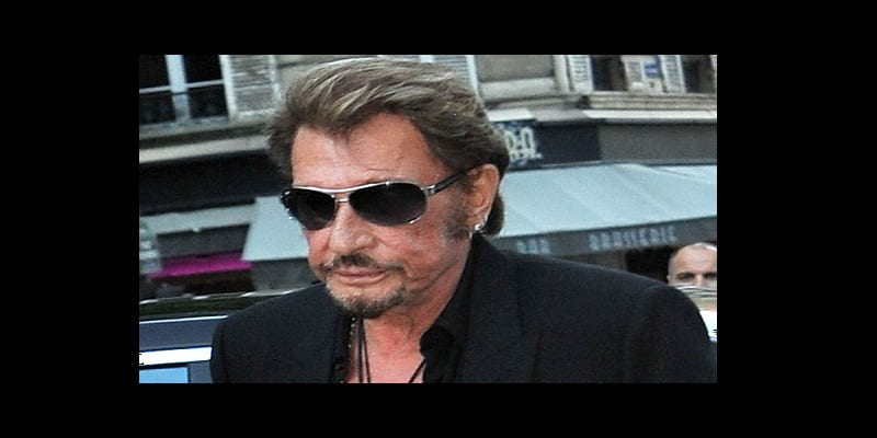 198761 Clément Prioli/Starface 2015-07-06 Paris France Soirée Vogue au Musee Galliera. Arrivals at the Vogue's Party. Hallyday, Johnny; Hallyday, Laeticia Reporters / Starface