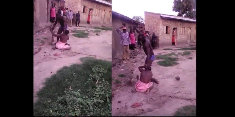 Ouganda un homme bat sa femme et sa fille avec une - Femme qui porte une couche ...