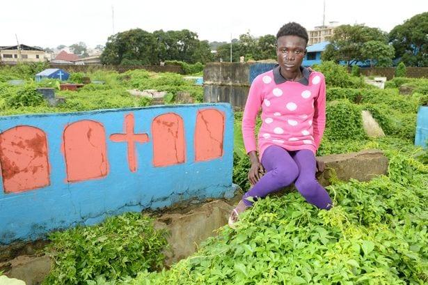 Princess-Chea-who-sleeps-inside-a-grave-in-Liberia