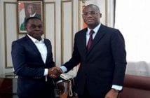 Alexis Zah Bi et le ministre Sidik Toure