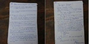 La lettre du douanier avant sa pendaison