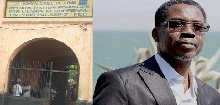 L'entrée principale de la prison civile de Lomé.