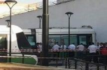 Voici l'accident du tramway