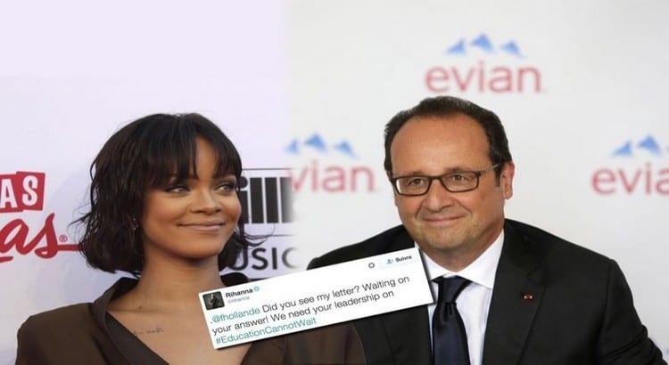 Voici enfin la réponse de François Hollande à Rihanna