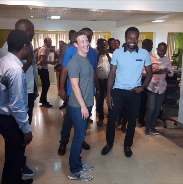 Le fondateur de Facebook Mark Zuckerberg au Nigeria: PHOTOS