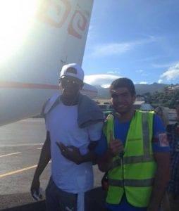 Usain Bolt en vacances à Bora Bora, après son escale à Tahiti (photos)