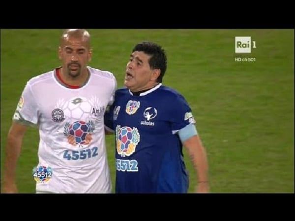 Maradona et Veron à deux doigts de se battre, en plein match pour la paix, organisé par le pape François: VIDÉO