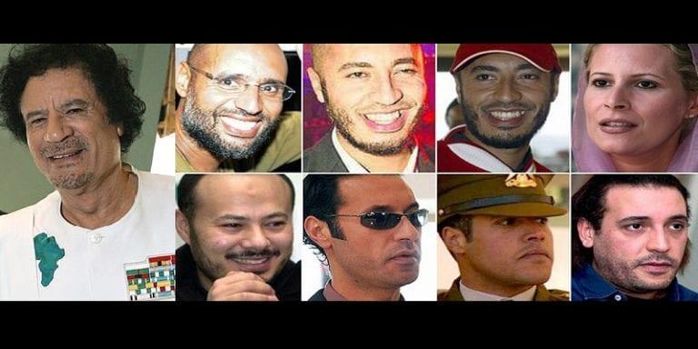 Libye: que sont devenus les enfants de Kadhafi, cinq ans après sa chute?