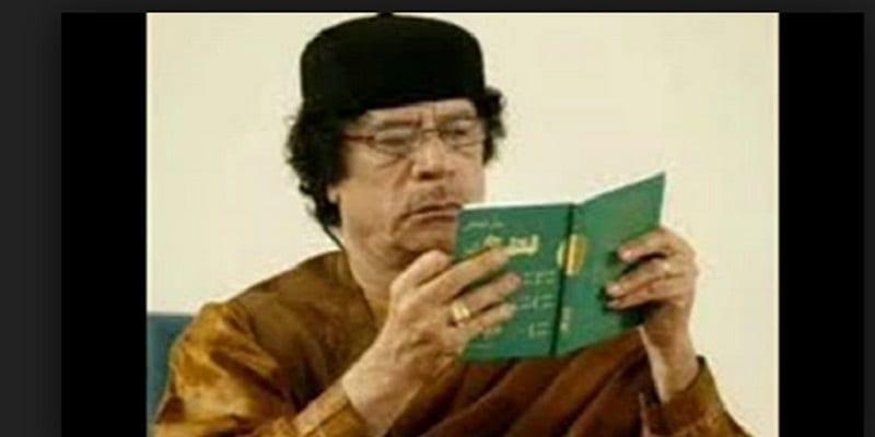 Libye: le livre vert de Mouammar Kadhafi entre