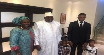 Barro et sa famille