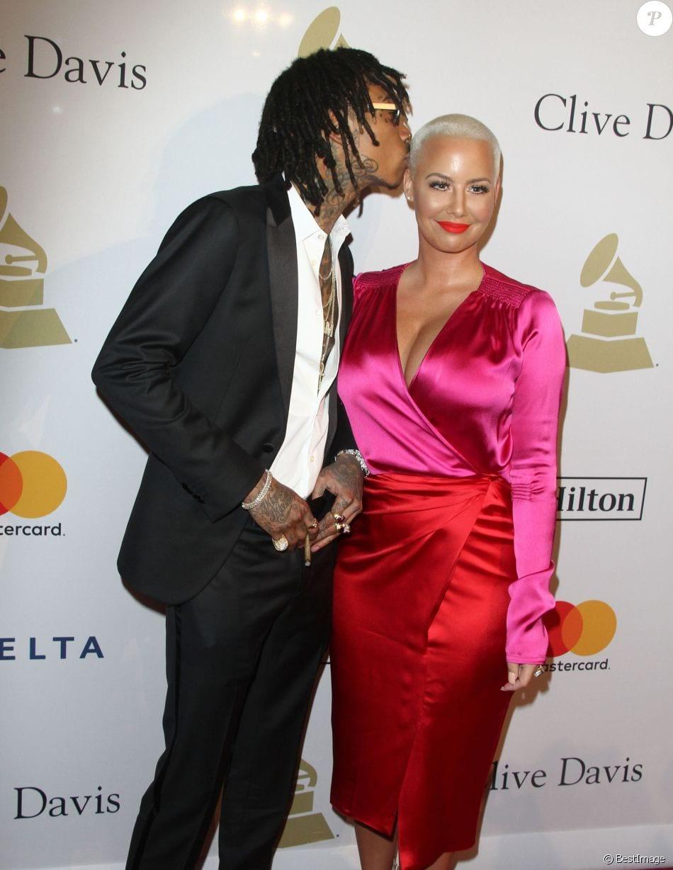 USA: Après leur récent baiser, Amber Clarifie sa relation avec Wiz Khalifa...Photos