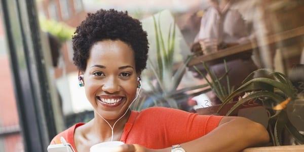 happy woman-facebook