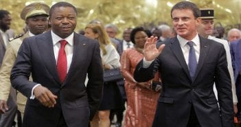 Faure et Manuel Valls à Lomé