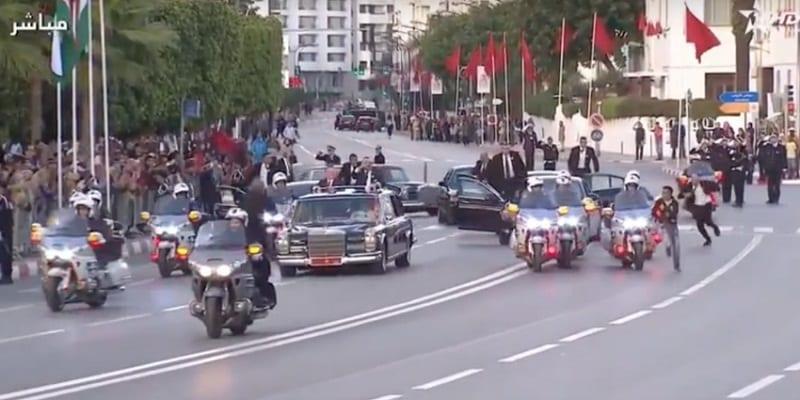 Maroc: Identifié, que risque l'individu qui a couru après le cortège des rois Mohammed VI et Abdallah II ? Vidéo