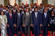 Blaise et ses ministres, photo archive