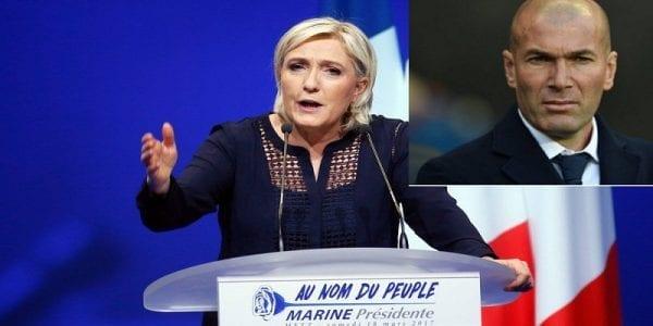 France: Marine Le Pen répond à  Zidane suite à son appel  à voter contre le FN