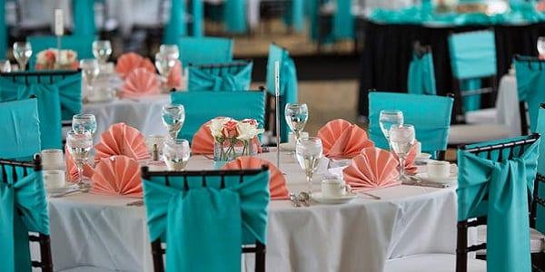 mariage orange et turquoise. Black Bedroom Furniture Sets. Home Design Ideas
