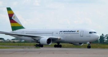 air zimbabwe airliner