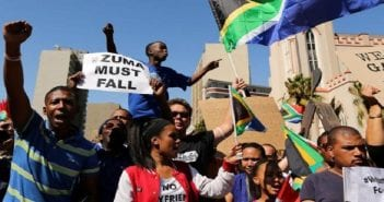 manifestants anti-Zuma