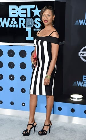 MC Lyte arrives at the BET Awards at the Microsoft Theater on Sunday, June 25, 2017, in Los Angeles. (Photo by Richard Shotwell/Invision/AP)