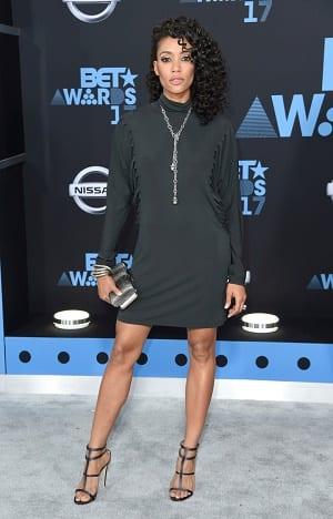 Annie Ilonzeh arrives at the BET Awards at the Microsoft Theater on Sunday, June 25, 2017, in Los Angeles. (Photo by Richard Shotwell/Invision/AP)