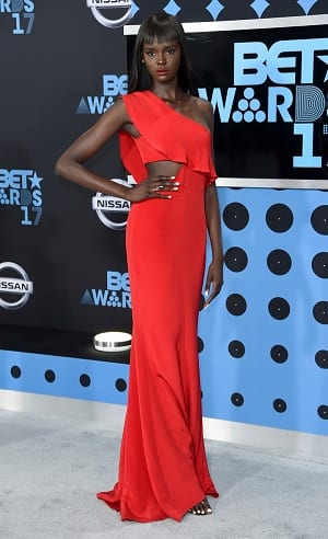 Duckie Thot arrives at the BET Awards at the Microsoft Theater on Sunday, June 25, 2017, in Los Angeles. (Photo by Richard Shotwell/Invision/AP)