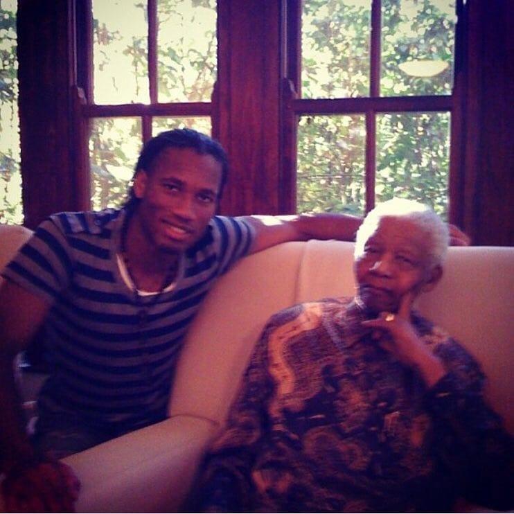 """Didier Drogba célèbre le """"Mandela Day"""" sur Instagram...photo"""