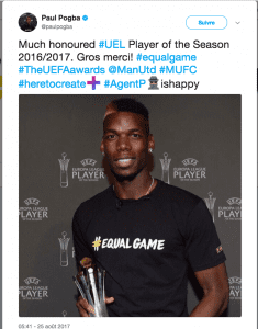 Paul Pogba élu meilleur joueur de la Ligue Europa