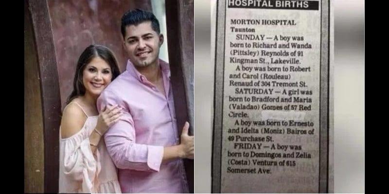 Un couple né le même jour dans le même hôpital se marie 27 ans plus tard (photos)