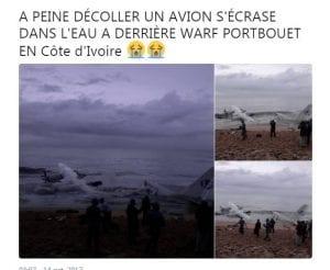 Côte d'Ivoire: Un avion militaire s'écrase dans la mer. Plusieurs morts