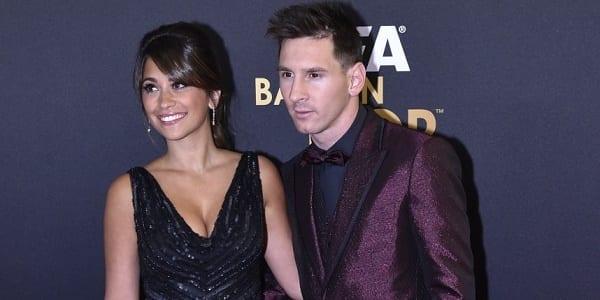 Messi et sa compagne