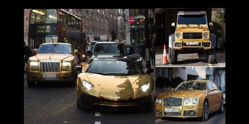 Un Milliardaire Saoudien Emporte Ses Bolides En Or 224