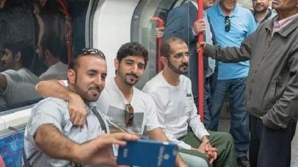 Le roi de Dubaï, Cheikh Mohammed et le prince aperçus dans le métro à Londres: PHOTOS+VIDÉO