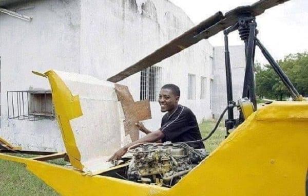 Inspiration: Un étudiant nigérian construit un hélicoptère à partir de débris (PHOTOS)