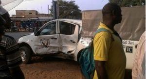 Togo: grave accident d'une  voiture de la sécurité présidentielle (photo)