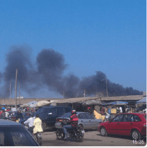 Urgent-Togo : Incendie dans un parc automobile au Port de Lomé (Photos)