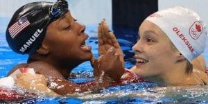 JO 2016 : Voici la première nageuse noire à remporter une médaille d'or sur 100 mètres nage libre