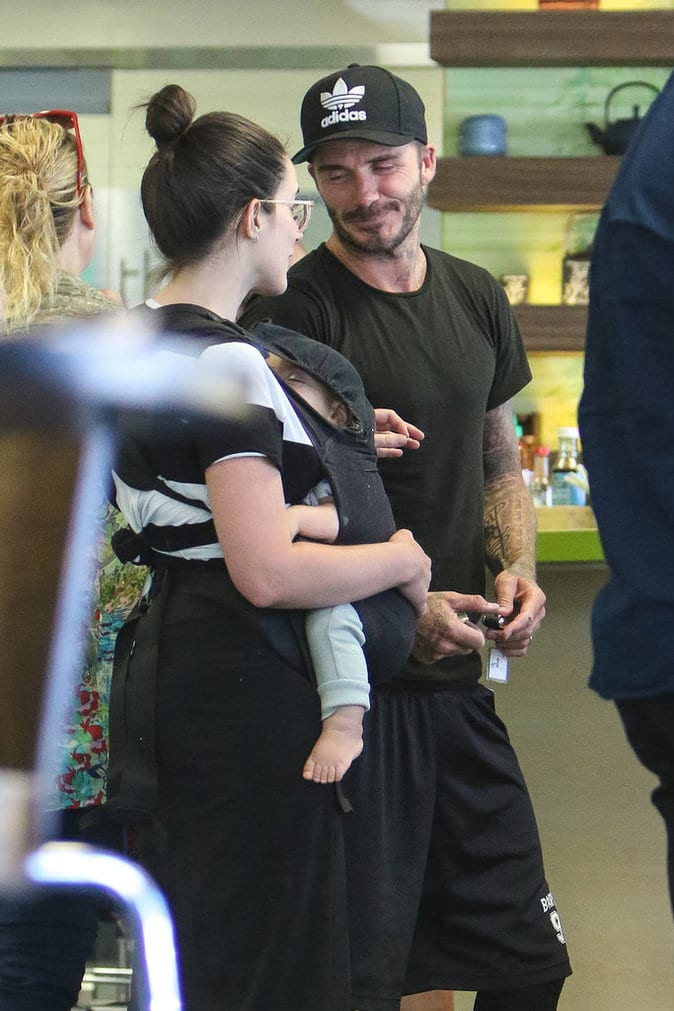 David Beckham craque sur une jeune maman...(photos)