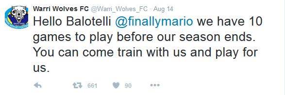 Un club nigérian offre de faire signer Mario Ballotelli
