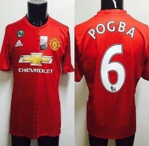 Pogba et Ibrahimovic en tête du top 10 des ventes de maillots en Angleterre