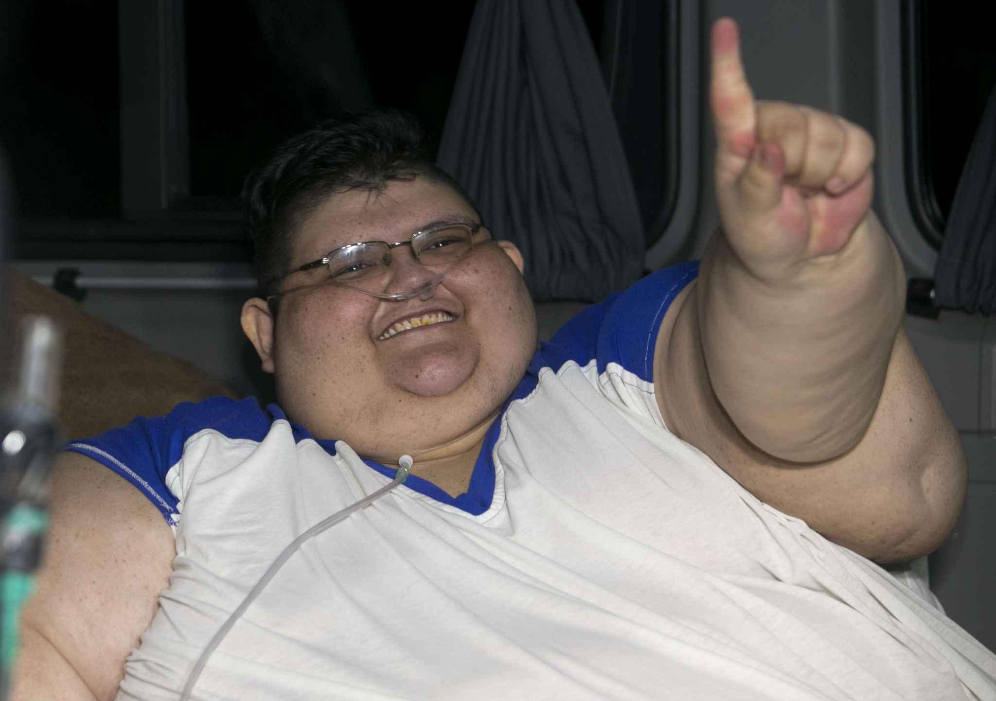 L'homme le plus gros du monde voudrait perdre 300 kilos...Vidéo