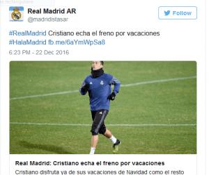 Le Real demande à Ronaldo de baisser son état physique et mental
