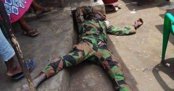 militaire abattu