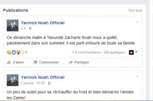 La légende Yannick Noah annonce une triste nouvelle