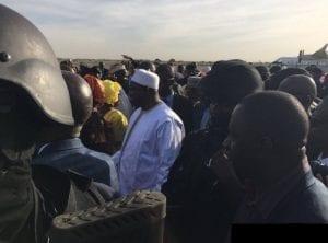 Gambie: Le nouveau président Adama Barrow est arrivé à Banjul