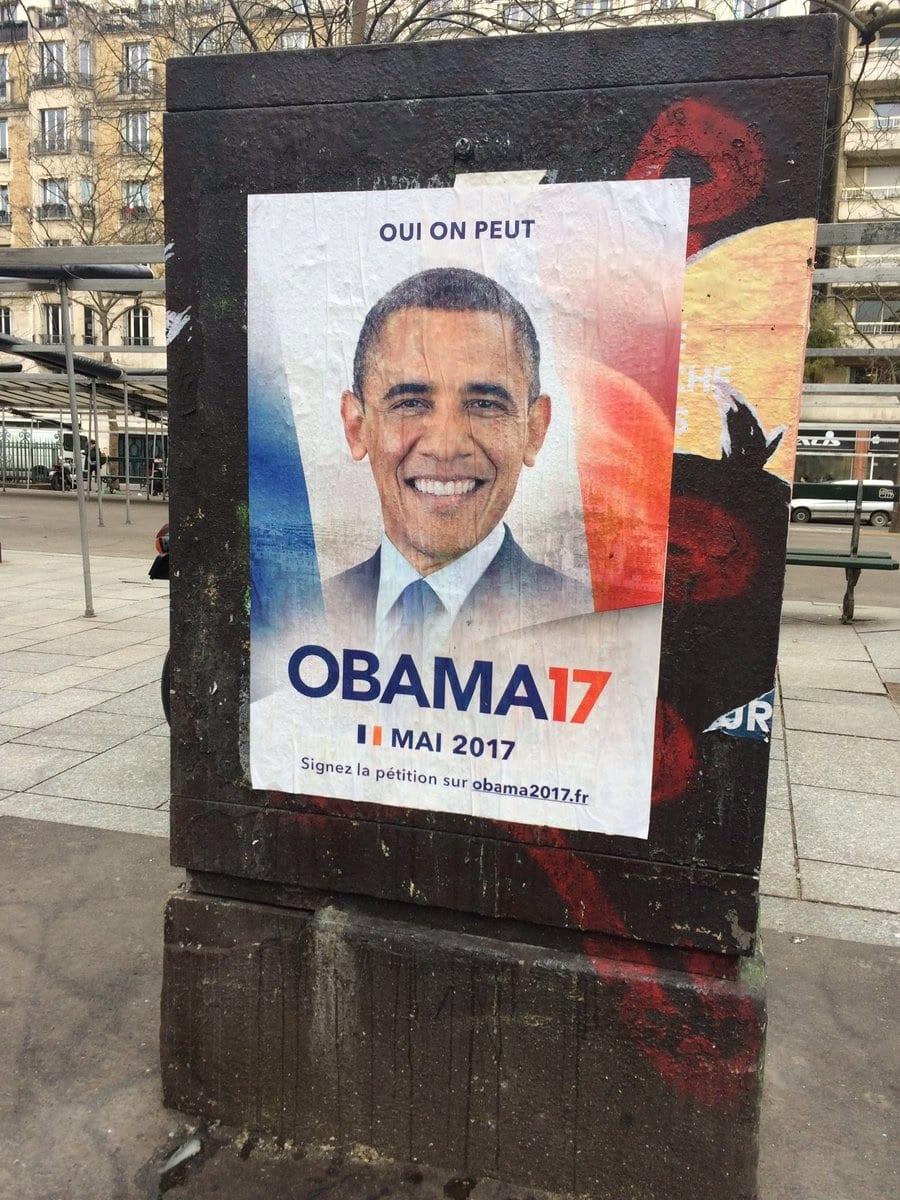 Une pétition lancée pour réclamer Barack Obama à la présidentielle française...Explications